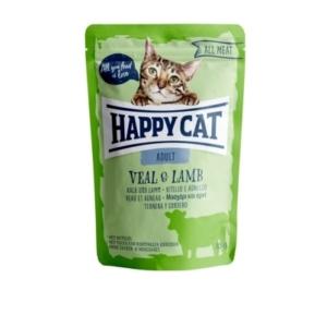 Happy Cat - Pouch Hús Adult Borjú-Bárány macskáknak