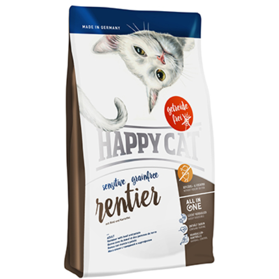 Happy Cat - Sensitive Gabonamentes Rénszarvas