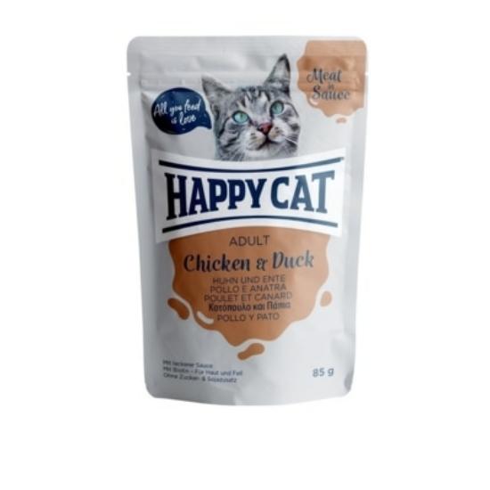 Happy Cat - Pouch Szósz Csirke-Kacsa 24x85 gr