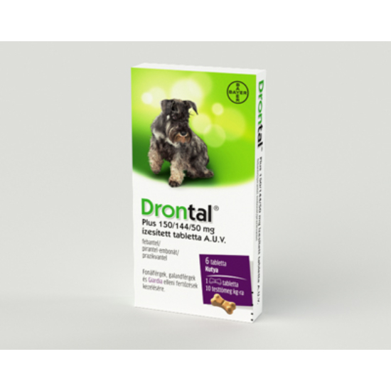 Drontal Plus 150/144/50mg ízesített tabletta