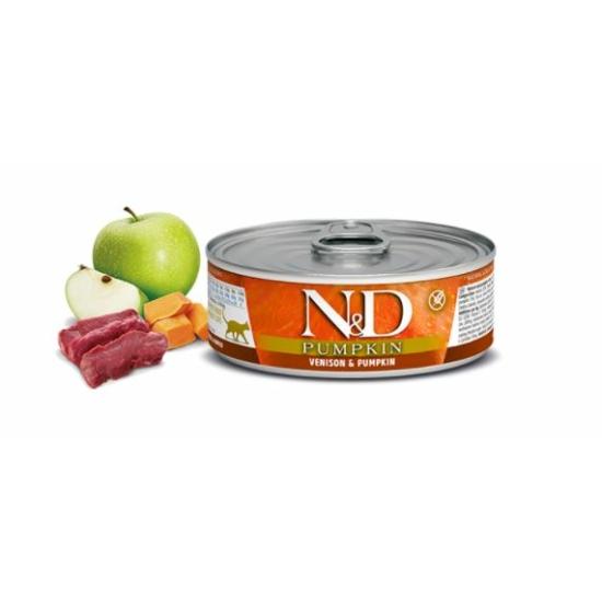 N&D Cat Pumpkin Szarvas-Sütőtök konzerv macskáknak 80 g