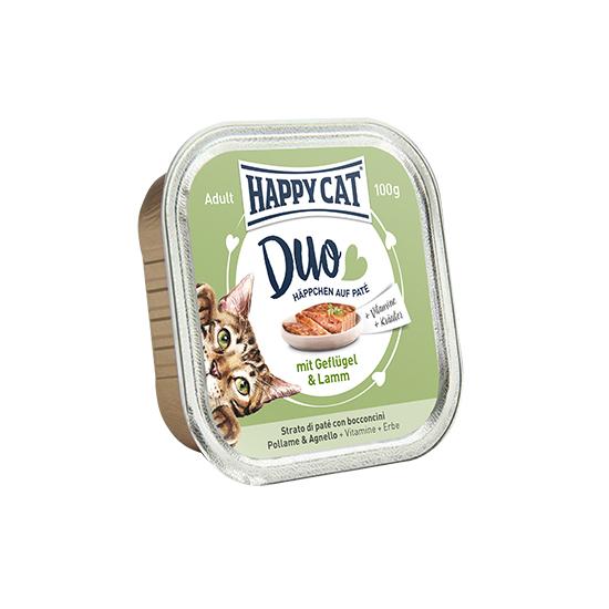 Happy Cat - Duo Pástétomos Falatkák Szárnyas-Bárány