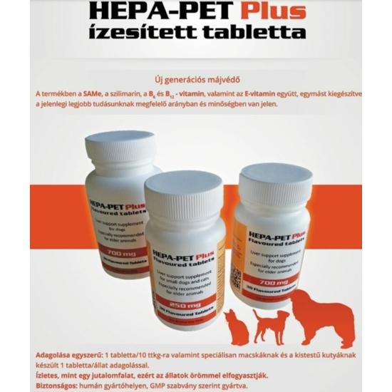 Hepa-Pet Plus májvédő tabletta