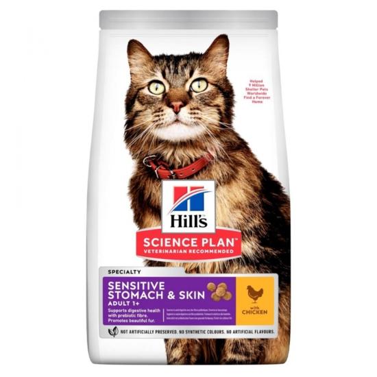 Hill's Science Plan - Csirkés száraztáp Érzékeny Felnőtt Macskáknak 7 kg