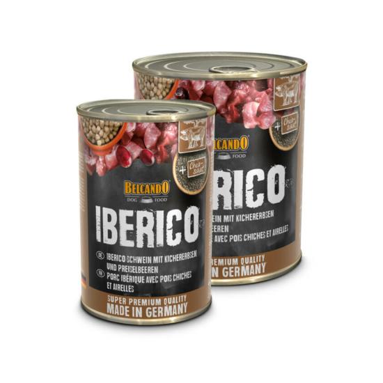 Belcando Ibériai sertéshús csicseriborsóval és vörös áfonyával konzerv
