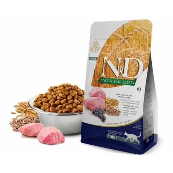 N&D Cat Ancestral Grain Bárány-Tönköly-Zab-Áfonya táp macskáknak