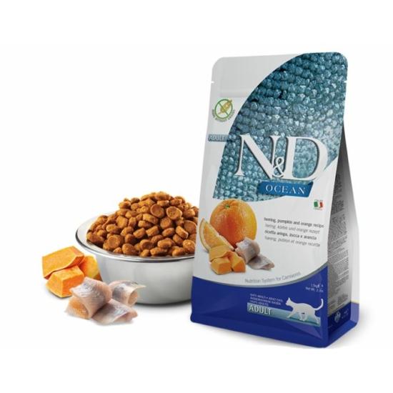 N&D Cat Ocean - Hering-Sütőtök-Narancs száraztáp Felnőtt macskának