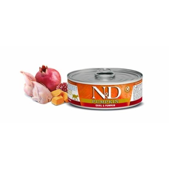 N&D Cat Pumpkin Fürj-Sütőtök konzerv macskáknak 80 g