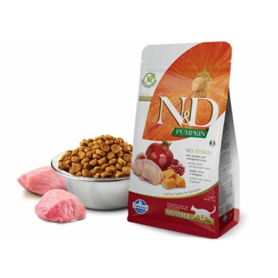 N&D Cat Pumpkin Fürj-Sütőtök-Gránátalma táp Steril macskáknak