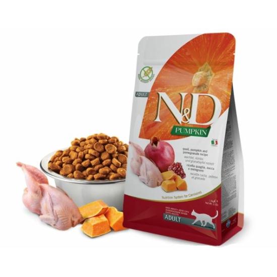 N&D Cat Pumpkin Fürj-Sütőtök-Gránátalma táp macskáknak