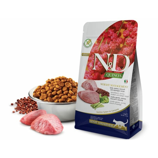 N&D Cat Quinoa - Bárányos Súlykontroll Száraztáp