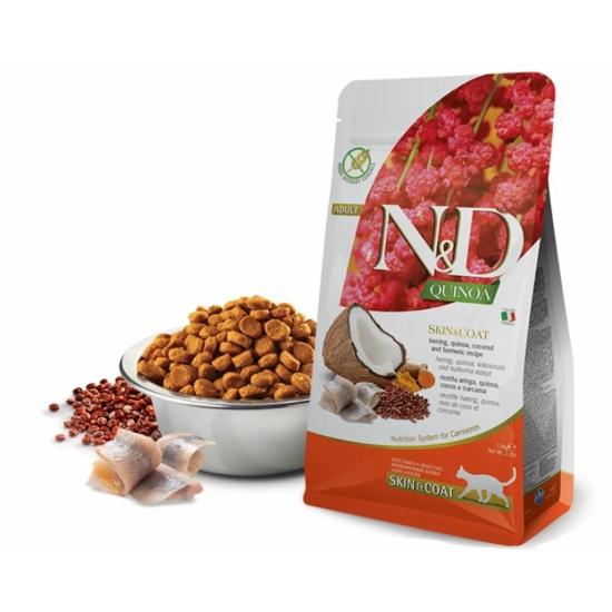 N&D Cat Quinoa - Hering Száraztáp a Bőrért és Szőrzetért