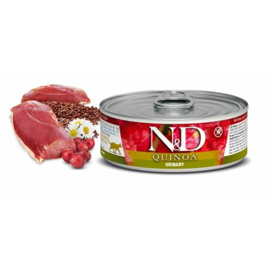 N&D Cat Quinoa- Húgyutak védelme Kacsa konzerv 80 g