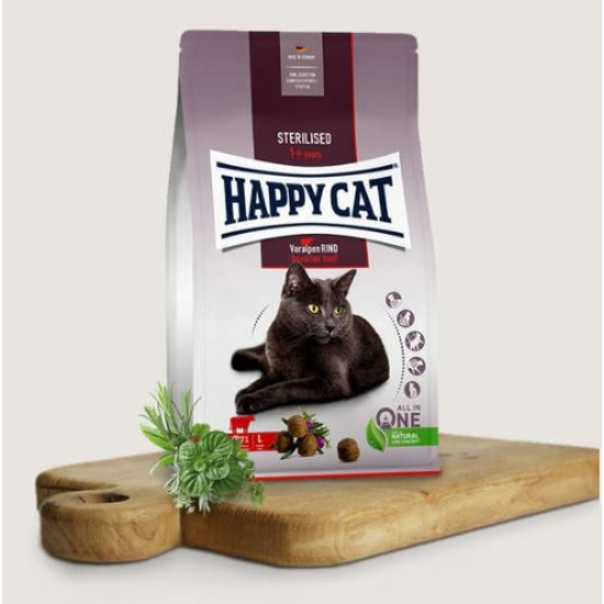 Happy Cat - Marhahúsos táp Steril cicáknak