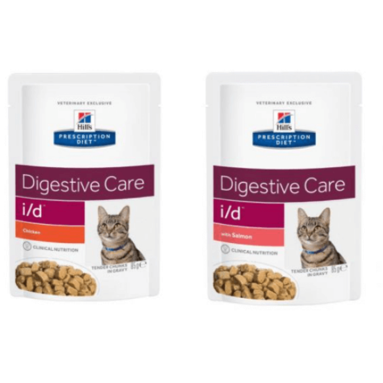 Hill's Prescription Diet - I/D Emésztés támogató alutasak cicáknak