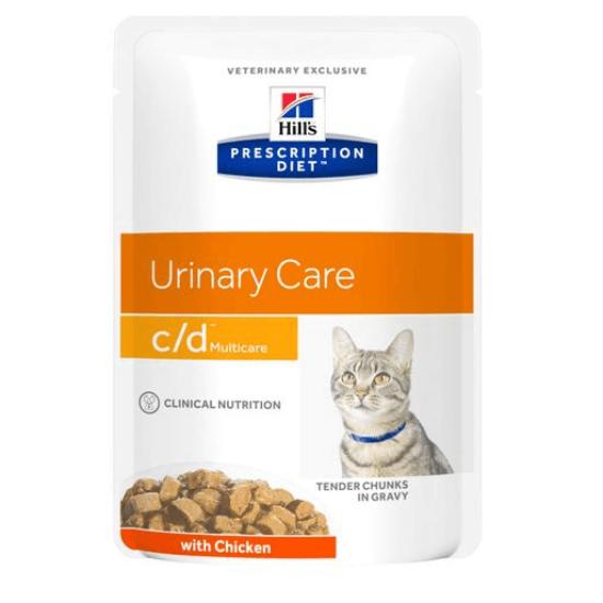 Hill's Prescription Diet - C/D Urinary Multicare csirkés alutasak 12x85 g