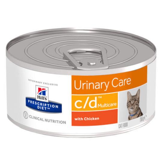 Hill's Prescription Diet - C/D Urinary Multicare csirkés vagdalt konzerv cicáknak 156 g