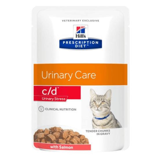 Hill's Prescription Diet - C/D Urinary Stress lazacos alutasak macskáknak 12x85 g