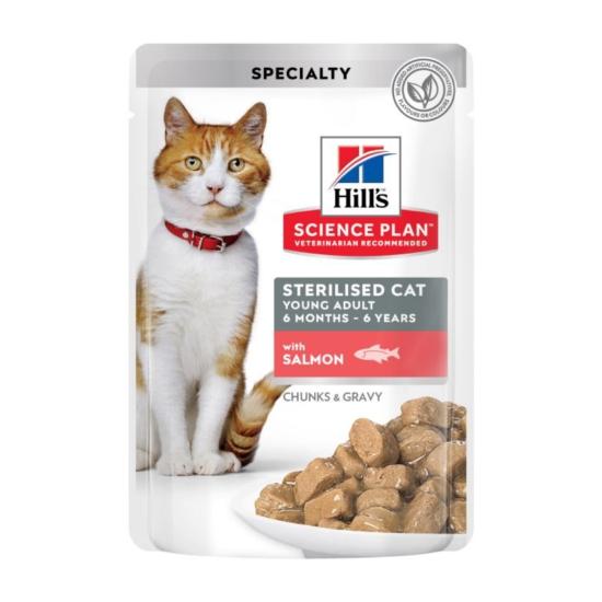Hill's Science Plan - Lazacos alutasak Steril Fiatal Felnőtt macskának 12x85 g