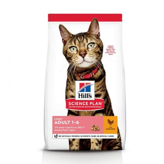 Hill's Science Plan - Light Csirkehúsos száraztáp Felnőtt cicának 10 kg