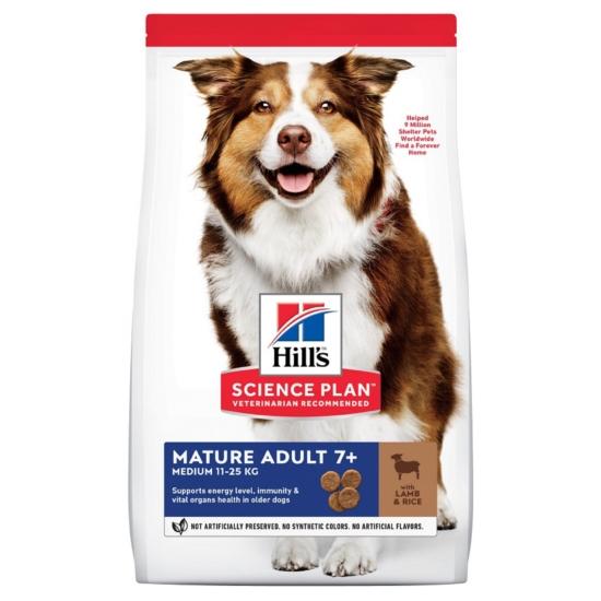 Hill's Science Plan - Mature - Bárány-Rizs száraztáp Érett Medium