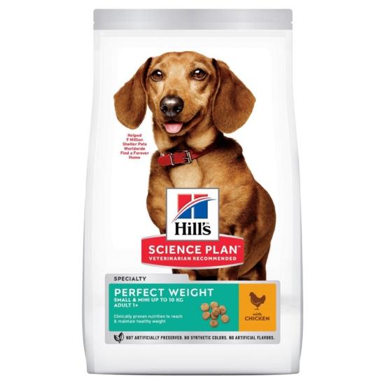 Hill's Science Plan - Csirkés Súlykontroll száraztáp Mini Felnőtt 1,5 kg