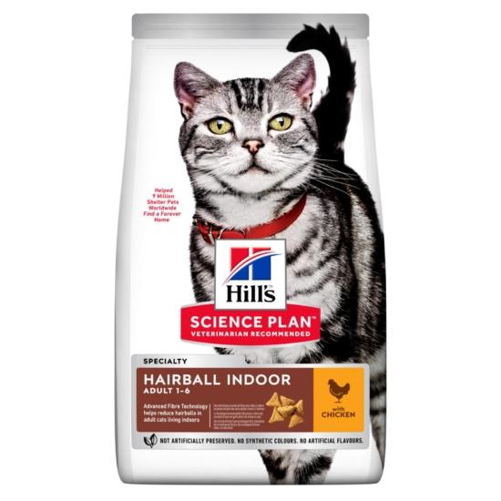 Hill's Science Plan - Szőrlabda csökkentő Száraztáp beltéri cicának 3kg