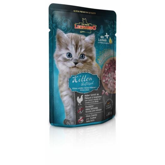 Leonardo Kitten baromfihús alutasak kölyök cicának 85 gr