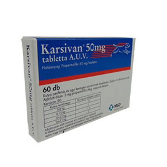 Karsivan 50 mg tabletta A.U.V. 60 db