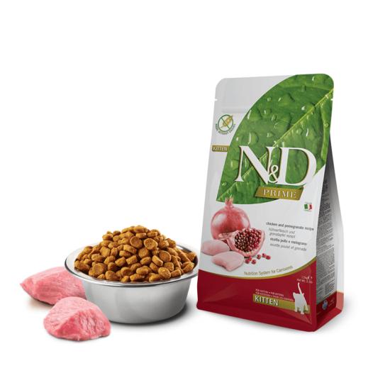 N&D Cat Prime - Csirke-Gránátalma száraztáp Kölyök cicáknak