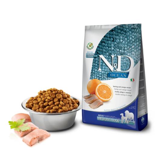 N&D Dog Ocean - Hering-Narancs száraztáp Felnőtt Kutyáknak