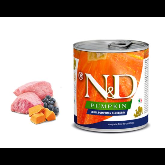 N&D Dog Pumpkin- Bárány-Sütőtök-Áfonya konzerv Felnőtt Kutyáknak 285 g
