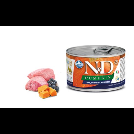 N&D Dog Pumpkin- Bárány-Sütőtök-Áfonya konzerv Kistestű Felnőtt Kutyáknak 140 g