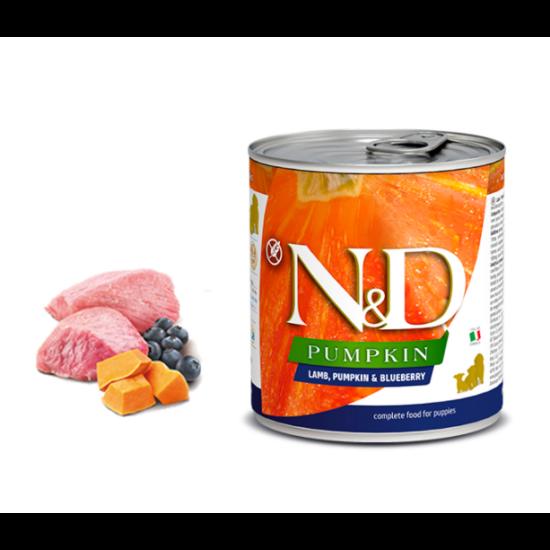 N&D Dog Pumpkin- Bárány-Sütőtök-Áfonya konzerv Kölyök Kutyáknak 285 g