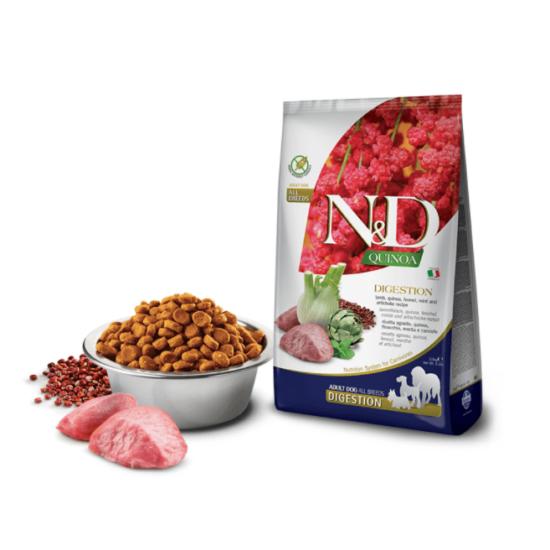 N&D Dog Quinoa - Bárányos emésztést támogató száraztáp kutyáknak