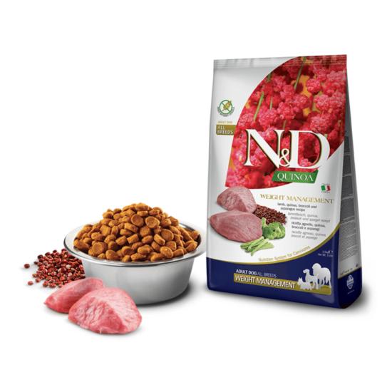 N&D Dog Quinoa - Bárányos Súlykontroll Száraztáp kutyáknak