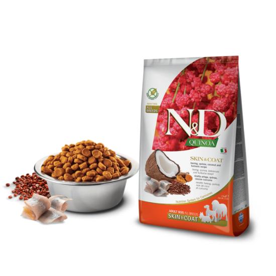 N&D Dog Quinoa - Hering Száraztáp a Bőrért és Szőrzetért kutyáknak