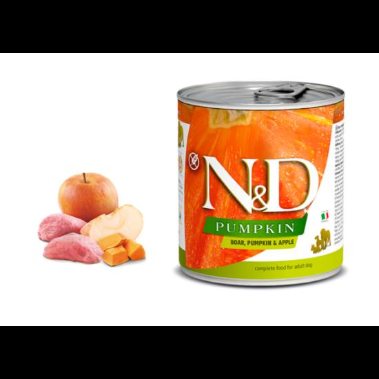 N&D Dog Pumpkin - Vaddisznó-Sütőtök-Alma konzerv Felnőtt Kutyáknak 285 g