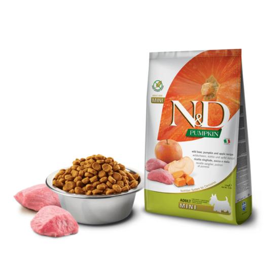 N&D Dog Pumpkin - Vaddisznó-Sütőtök-Alma száraztáp Kistestű Kutyáknak