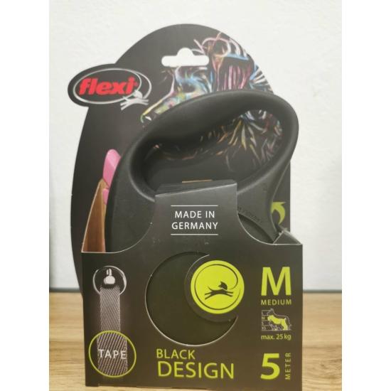 Flexi Black Design M Szalag 5m 25 kg-ig