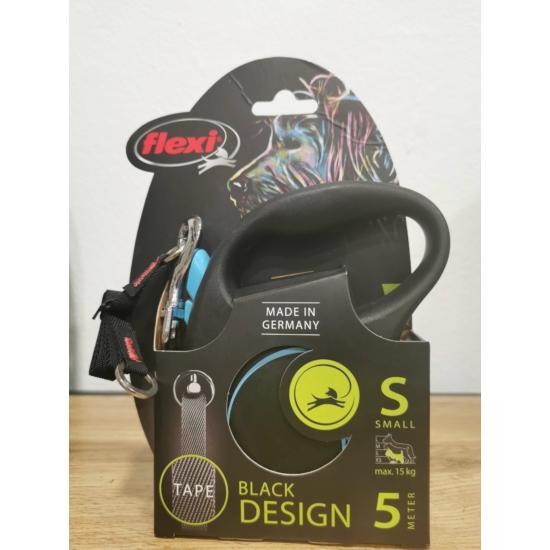 Flexi Black Design S Szalag 5m 15 kg-ig