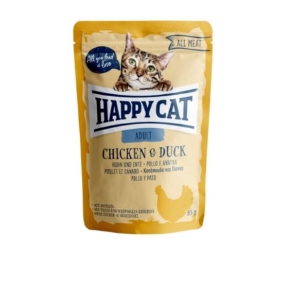 Happy Cat - Pouch Hús Adult Csirke- Kacsa macskáknak