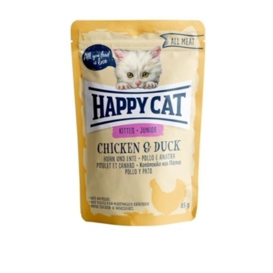 Happy Cat - Pouch Hús Junior Csirke- Kacsa