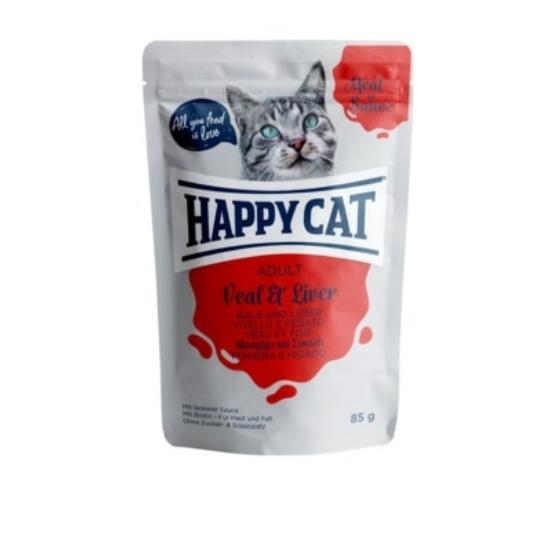 Happy Cat - Pouch Szósz Borjú-Máj macskáknak