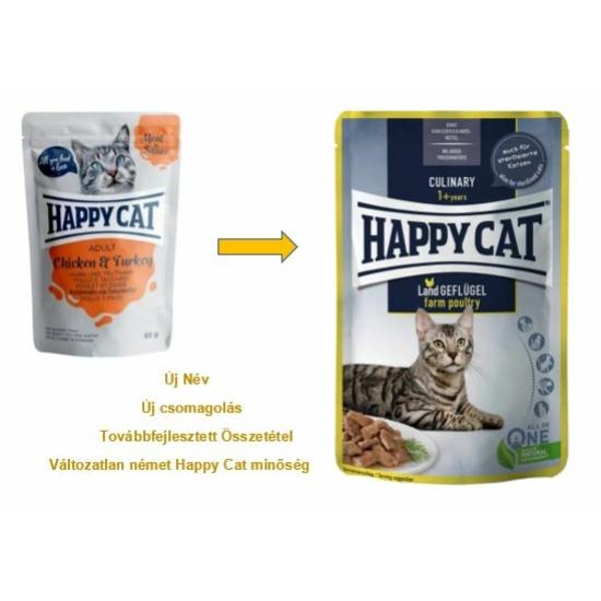 Happy Cat - Pouch Szósz Csirke-Pulyka macskáknak