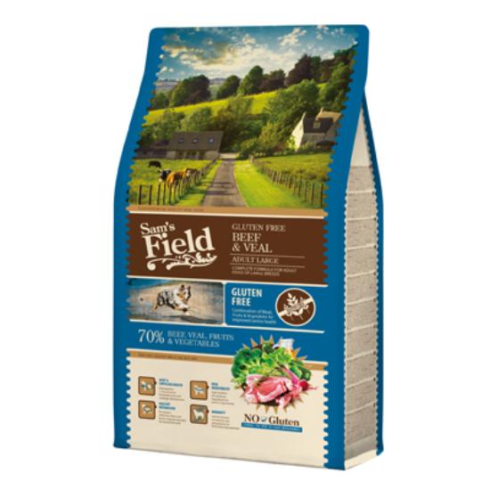 Sam's Field Felnőtt gluténmentes marha-borjú Nagytestű