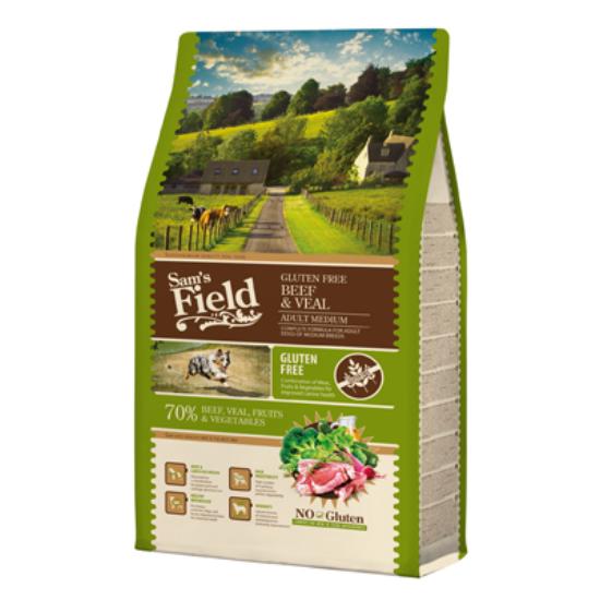 Sam's Field Felnőtt gluténmentes marha-borjú Médium