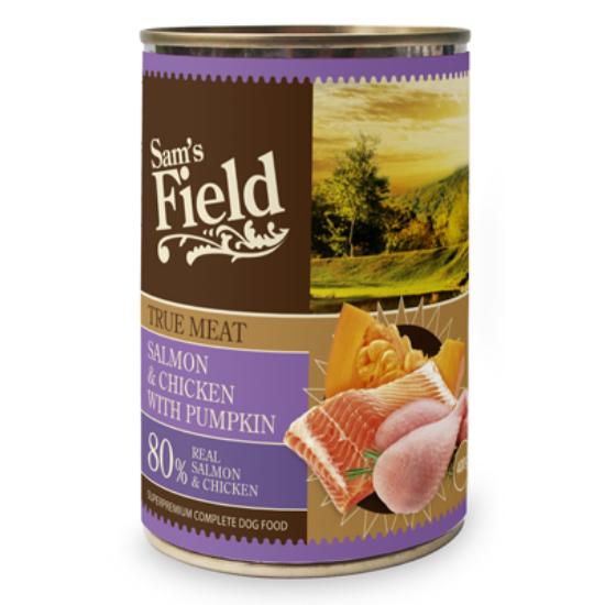 Sam's Field Konzerv Lazac-Csirke-Sütőtök 400g