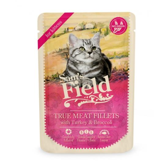 Sam's Field - Pouch Hús Kölyökcicáknak Pulyka-Brokkoli