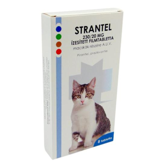Strantel Cat tabletta macskáknak A.U.V 8x